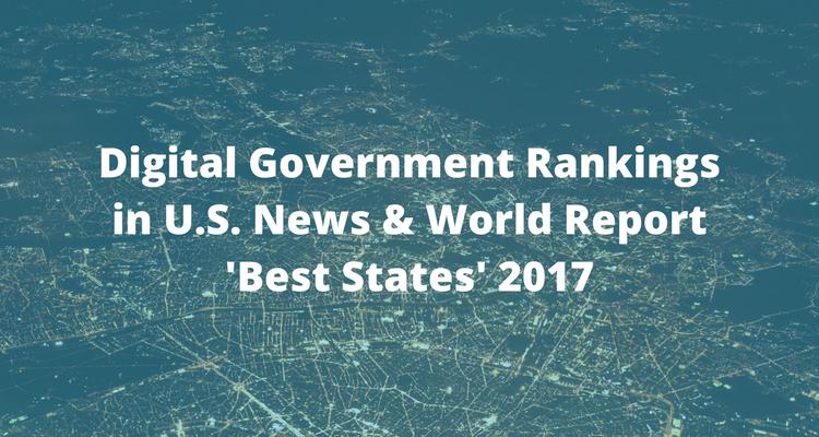 Digital Government Rankings in U.S. News & World Report Rankings