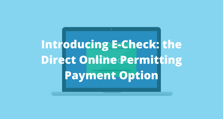 echeck epermit payment option with ViewPoint Cloud