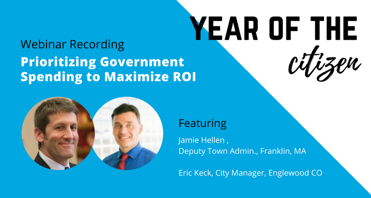 Prioritizing Government Spending Year of the Citizen ViewPoint Webinar